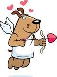 Cupid del perro ilustración del vector