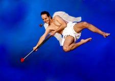 Cupid del vuelo Fotos de archivo libres de regalías