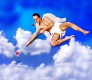 Cupid del vuelo Imágenes de archivo libres de regalías
