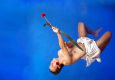 Cupid del vuelo Imagen de archivo