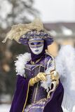 Cupid Disguised Person - Annecy Venetian Carnival 2013 Royalty Free Stock Image