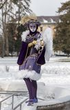 Cupid Disguised Person - Annecy Venetian Carnival 2013 Stock Photos