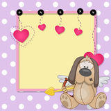 Cupid Dog with frame Stock Photos