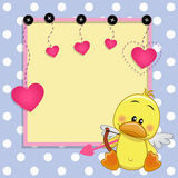 Cupid Duck with frame Royalty Free Stock Images