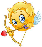 Cupid emoticon Stock Photo