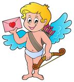 Cupid with envelope theme image 1 Royalty Free Stock Image