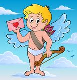 Cupid with envelope theme image 2 Royalty Free Stock Photos
