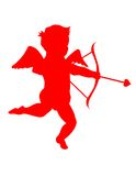 Cupid! Eps / clip art / jpeg. A silhouette of a cute little cupid. Eps / clip art / jpeg Royalty Free Stock Photography