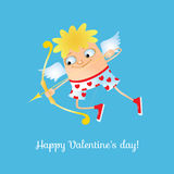 Cupid with fancy underpants. Vector illustration of a cupid with fancy underpants Stock Images