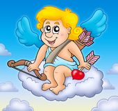 Cupid feliz no céu Imagem de Stock
