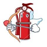 Cupid fire extinguisher character cartoon. Vector illustration Stock Photo