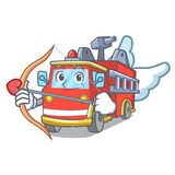 Cupid fire truck character cartoon. Vector illustration Stock Image