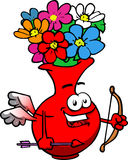 Cupid flower vase Stock Photos