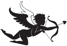 Cupid flying Stock Photography