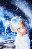 Cupid girl Stock Images
