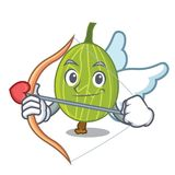 Cupid gooseberry character cartoon style. Vector illustration Stock Image