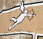 Cupid graffiti Stock Photos