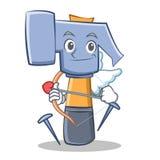 Cupid Hammer Character Cartoon Emoticon Stock Photo