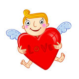 Cupid with heart. Royalty Free Stock Photos