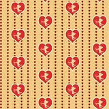 Cupid with heart Stock Photos