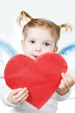 Cupid with heart Royalty Free Stock Image