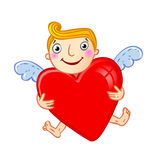 Cupid with heart. Stock Images