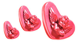 Cupid in Heart Valentine`s Day Royalty Free Stock Image