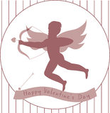 Cupid-hipster. Funny cupid-hipster with the bow and arrows vector illustration