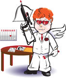 Cupid Hitman Royalty Free Stock Images