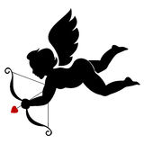 Cupid illustration. An illustration of cupid with bow and arrow isolated in white. A Vector .EPS file available. ( easily editable in separate layers vector illustration