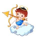 Cupid kid on a cloud stock illustration