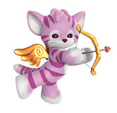 Cupid Kitty Royalty Free Stock Image