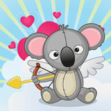 Cupid Koala Stock Photography
