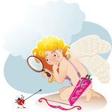 Cupid and ladybug Stock Image