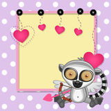 Cupid Lemur with frame Stock Image