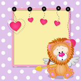 Cupid Lion with frame Stock Image