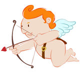 Cupid little angle Royalty Free Stock Images
