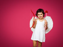 Cupid little girl Royalty Free Stock Photos