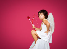 Cupid little girl Royalty Free Stock Photography