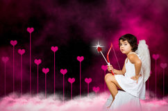 Cupid little girl Royalty Free Stock Images