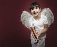 Cupid little girl Stock Photography