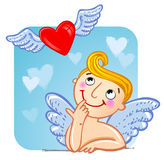 Cupid in love. Stock Images
