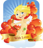 Cupid with love Royalty Free Stock Images