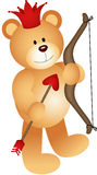 Cupid Lovely Teddy Bear Royalty Free Stock Images
