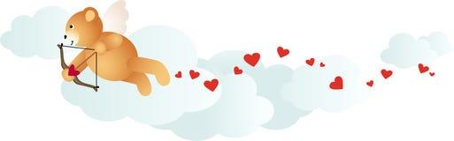 Cupid Lovely Teddy Bear Stock Photos