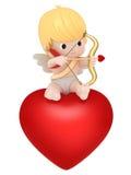 Cupid med bowen och pilen royaltyfri illustrationer