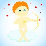 Cupid med en pilbåge och en pil Royaltyfri Fotografi