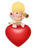Cupid med teleskop vektor illustrationer