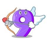Cupid mock interior font number on cartoon royalty free illustration