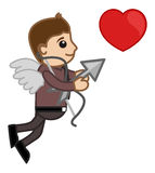 Cupid Office Man Cartoon Royalty Free Stock Photo